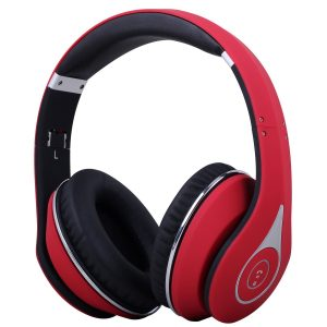 casque Bluetooth rouge